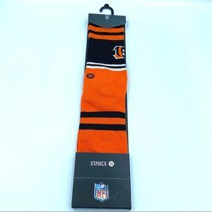 New Stance NFL Cincinnati Bengals Logo Crew Socks